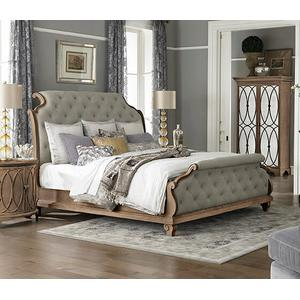 Queen Upholstered Tufted Bed