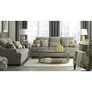 Ashley 934 Mandee Pewter Sofa and Love