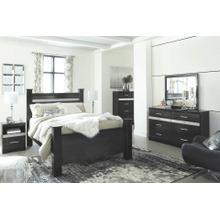 Starberry- Black- Dresser, Mirror, Chest, Nightstand & Queen Poster Bed