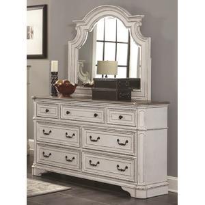 LIFESTYLE C8023A 045-050-QXOF9XGRX-QXG-BXN River Manor 3-Piece Bedroom Group - Queen Bed, Dresser & Mirror