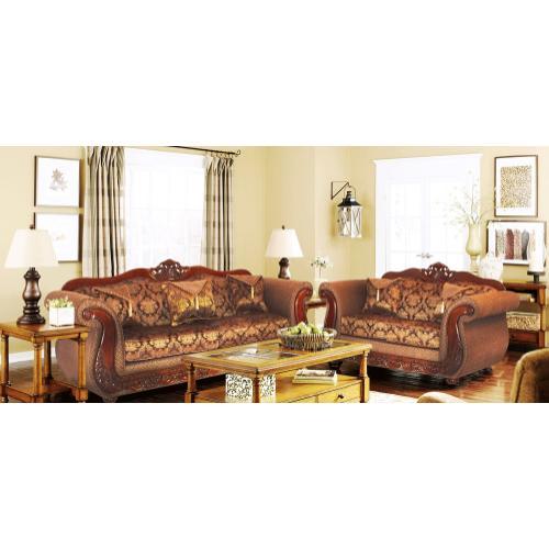 Kaylas Furniture - 998 Sofa and Loveseat Set- 31 Brown