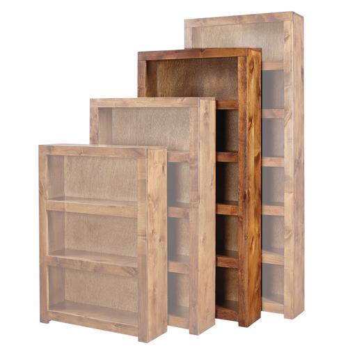 "Aspen Furniture - 74"" Fruitwood Bookcase"