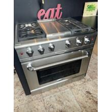 """View Product - Scratch and Dent 36"""" Gas Convection Range with 6 Sealed Burners 19K BTU"""
