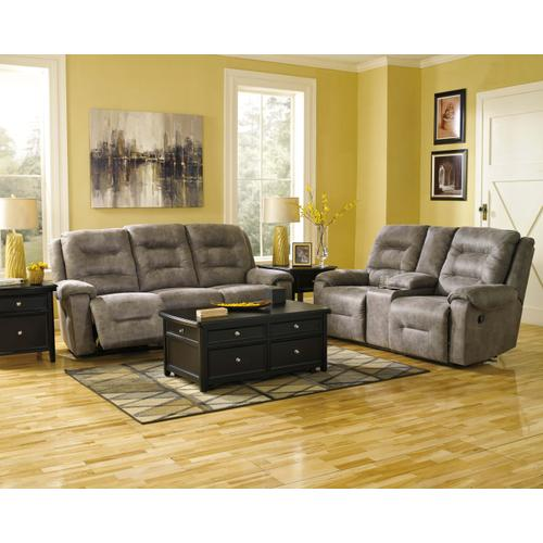 Smoke Rotation Reclining Sofa and Loveseat