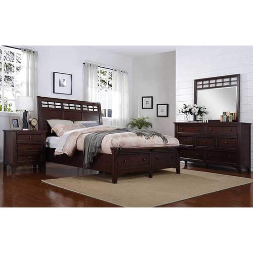 Retreat Queen Sleigh Storage Bed