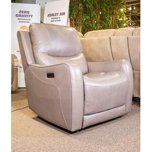 Ashley 6610206 Zer Wall Recliner with Power Headrest in Galahad Sandstone / Leather.Vinyl / CC:  L