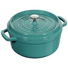 Staub Cast Iron Round Cocotte 4-Quart, Turquoise