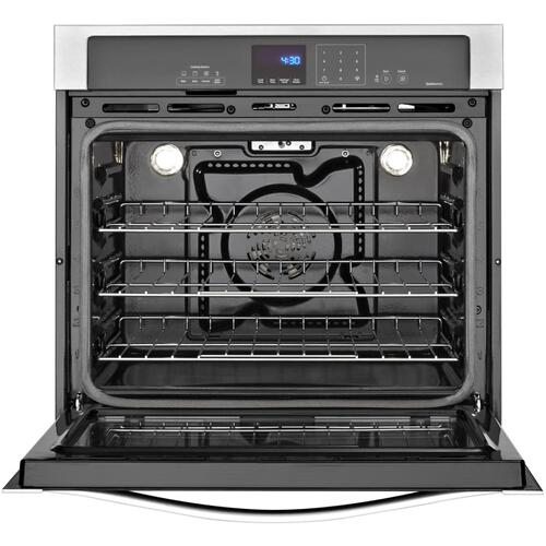 Whirlpool - Whirlpool WOS92EC0AB     Gold® 5.0 cu. ft. Single Wall Oven with SteamClean Option