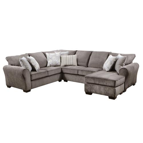 1657 Harlow Ash Sectional with Chaise End