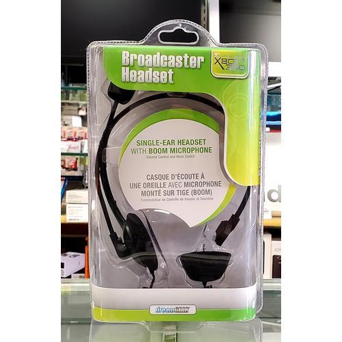 Single-Ear Headset w/ Boom Mic for Xbox 360
