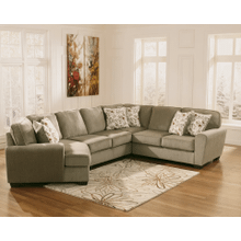 See Details - Patola Park - Patina - 4-Piece Sectional with Left Facing Cuddler