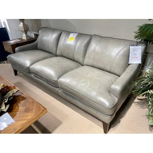 Stallion Light Grey Leather Sofa