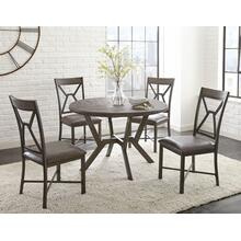 Alamo 5 Pc Dining Set-Grey