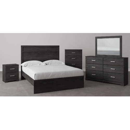 B2589 7PC SET: Queen Panel Bed, Dresser, Mirror, Chest, & Nightstand (Belachime)