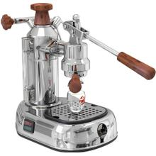 See Details - La Pavoni Europiccola Manual 8-Cup Espresso Machine, Chrome and Wood