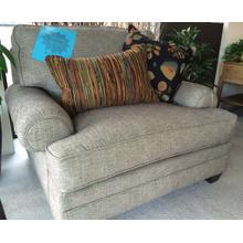 Smith Brothers Chair with 3 multi color accent pillows