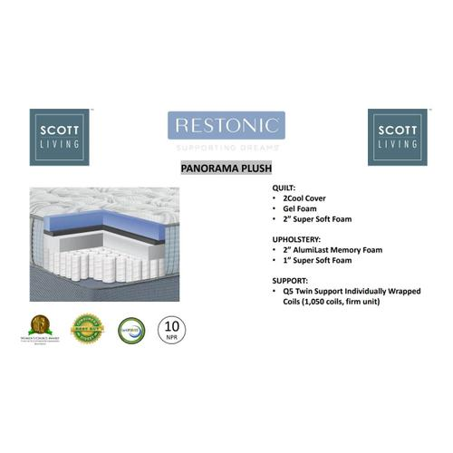 Restonic - Panorama King Mattress Set-Plush