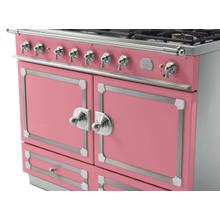 CornuFe 110 Dual Fuel Range - Suzanne Kazler Couleurs - Liberte with Stainless Steel and Satin Chrome Trim