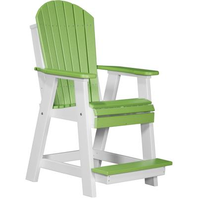 Adirondack Balcony Chair Lime Green and White