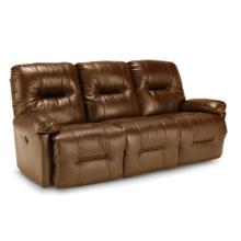 Zaynah Saddle Leather Match Power Reclining Sofa