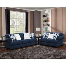 Lia Sofa & Loveseat Navy