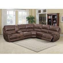 RUSTIC Microfiber Reclining Sectional Sofa