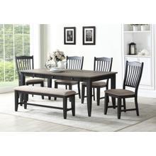 Lakewood 6PC Dining Set  Grey/Black