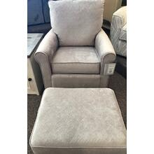 KACEY Swivel Glide Chair and ottoman