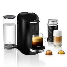 Nespresso by Breville VertuoPlus Deluxe Espresso Machine with Aeroccino Milk Frother, Piano Black