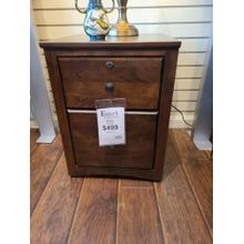 View Product - Rolling File Cabinet - Tuscan Brown