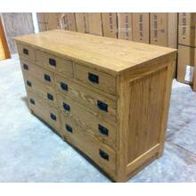 Mission Dresser in Red Oak with Stain