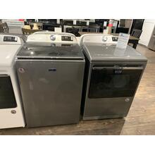 Maytag 5.3 CF Washer and 7.4 CF Dryer in Chrome