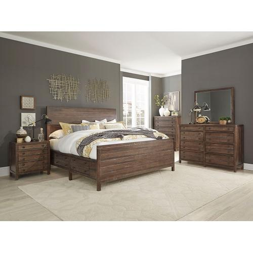 King Bed, Dresser, Mirror, Chest and Nightstand