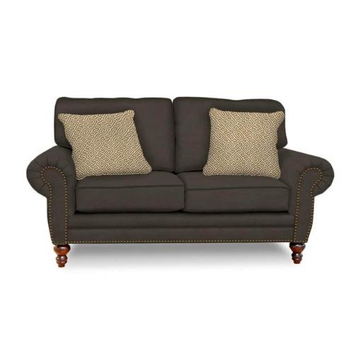 England Living Room Loveseat in Leather Groundworx Groovy