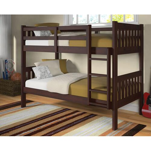 Donco Trading Company - Twin/Twin Mission Bunkbed - Cappuccino
