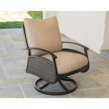 Agio International Davington Metal and Woven Deep Seating Swivel Rocker