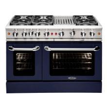 "See Details - Precision 48"" Gas Manual Clean Range (Cobalt Blue)"