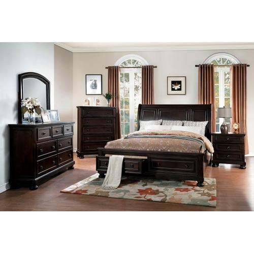 Begonia Qn Storage Bed, Dresser, Mirror and Nightstand
