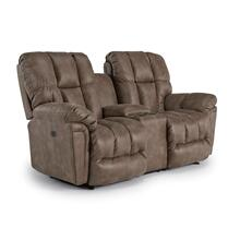 LUCAS Power Reclining Loveseat W/Center Console W/Power Tilt Headrest