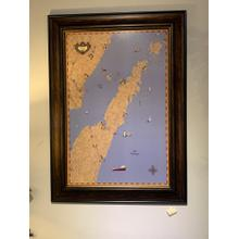 Door County wall art map