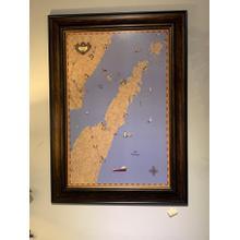 See Details - Door County wall art map
