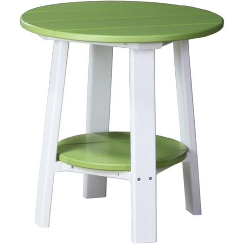 Deluxe End Table Lime Green and White