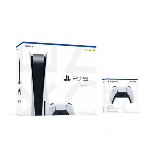 Sony - Playstation 5 - Console & 1 controller only: Disc & Digital