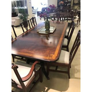 Crotch Mahogany Rectangular Dining Set