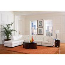Quinn White 6 Piece Sectional