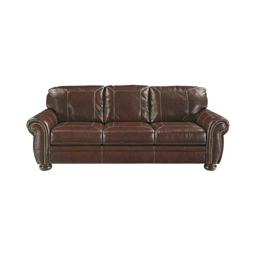 Ashley Furniture - ASHLEY 50401438-35-23G Banner Coffee Leather Group Sofa, Loveseat & Chair