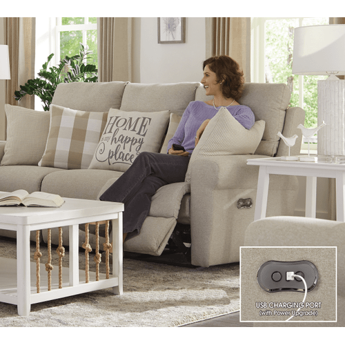 Jackson Furniture - Happy Place Power Lay Flat Reclining Loveseat Cement