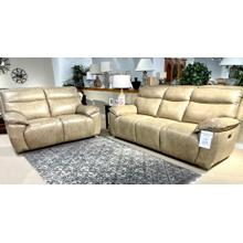 See Details - Juno Sand Power Reclining Leather Sofa & Loveseat