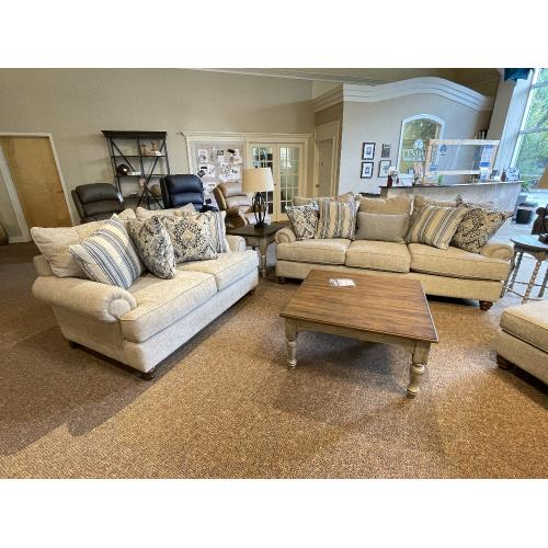Craftmaster Furniture - KAIS10 Living Room Sofa and Matching Accent Chair