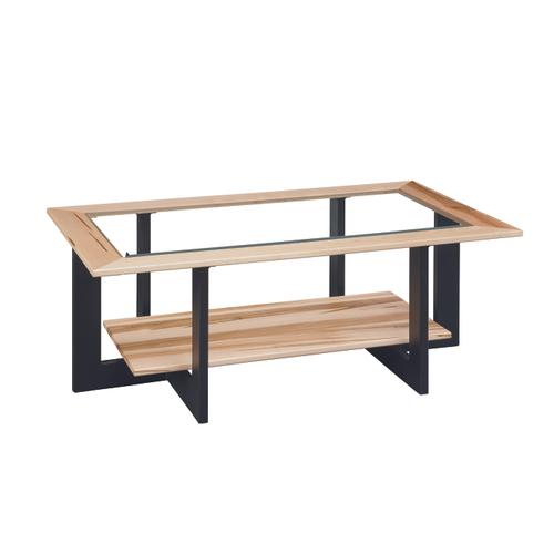 Country Value Woodworks - Reno Coffee Table With Glass Top